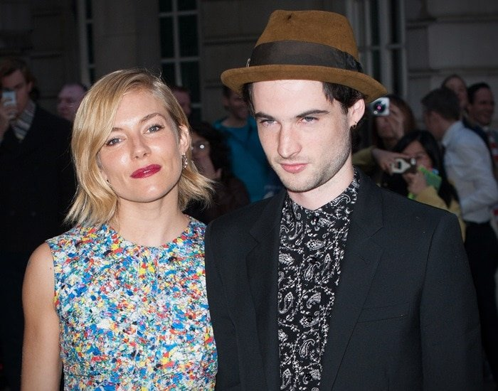 Sienna Miller and Tom Sturridge at the world premiere of his film, Effie Gray, held at the Curzon Mayfair in London, England, on October 5, 2014