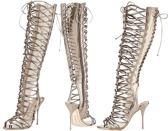 382f40538c2 Jennifer Lopez Gets Bootilicious in Sophia Webster Gladiator Sandal ...