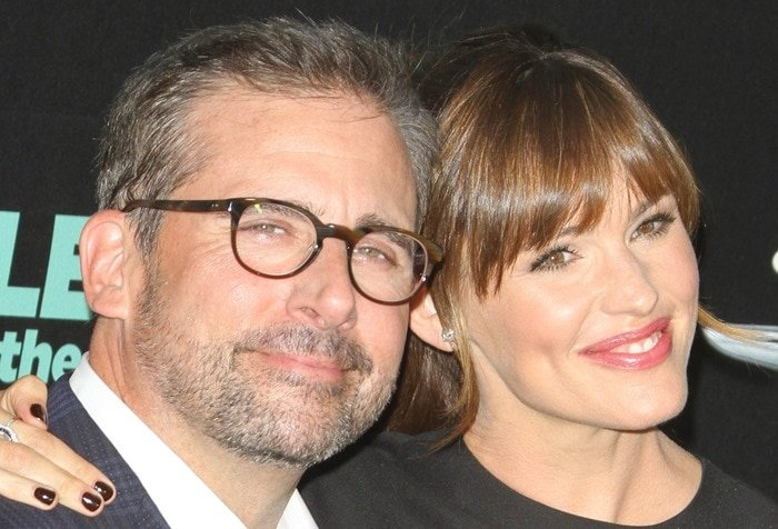 Steve Carell and Jennifer Garner at the premiere of Alexander and the Terrible, Horrible, No Good, Very Bad Day held at the El Capitan Theatre in Hollywood on October 6, 2014