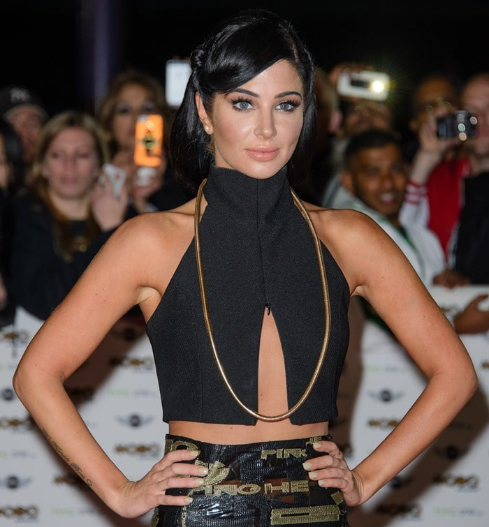 Tulisa Contostavlos attends the MOBO Awards at SSE Arena on October 22, 2014, in London, England