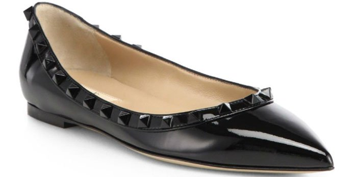 Valentino-Punkouture-Patent-Leather-Ballet-Flats