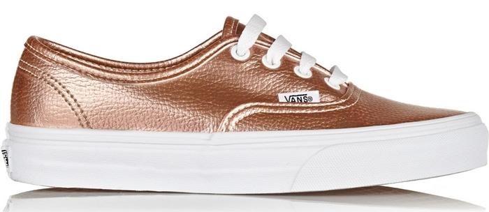 Vans Metallic Leather Sneakers