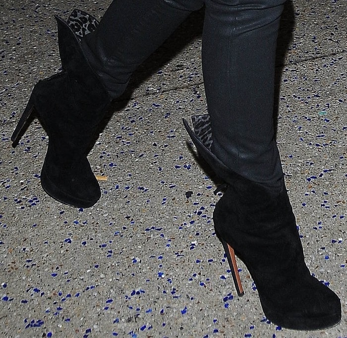 Victoria Beckham's high heel ankle boots from Azzedine Alaïa