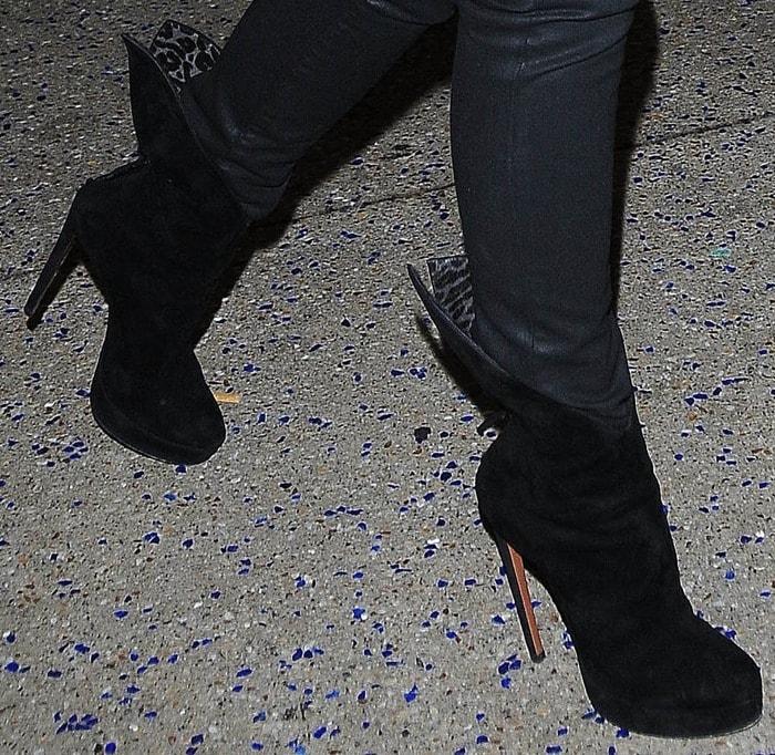 Victoria Beckham'shigh heel ankle boots from Azzedine Alaïa