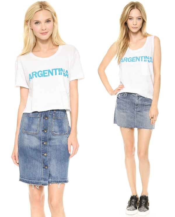 Textile Elizabeth and James Cropped Argentina Tee and Argentina Dean Tank