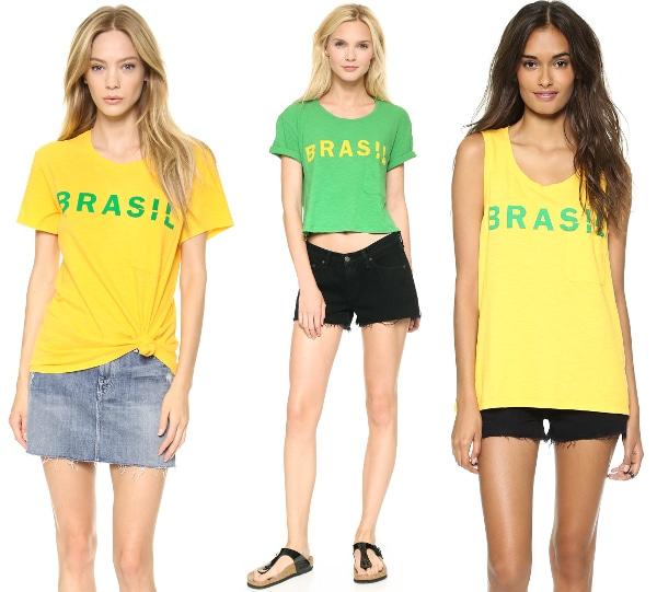 Brasil Bowery Tee/ Cropped Brasil Tee / Brazil Dean Tank