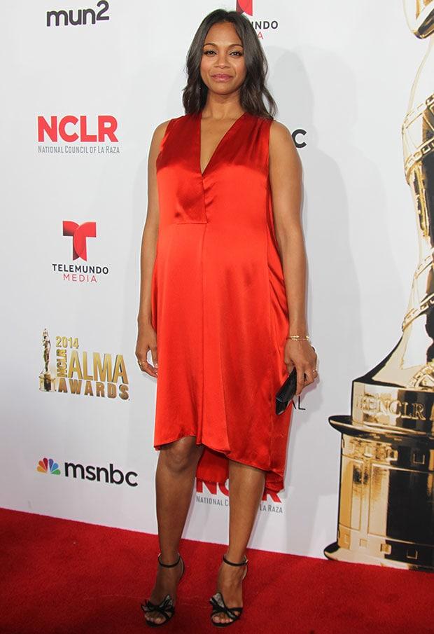 Zoe Saldana at the 2014 NCLR ALMA Awards
