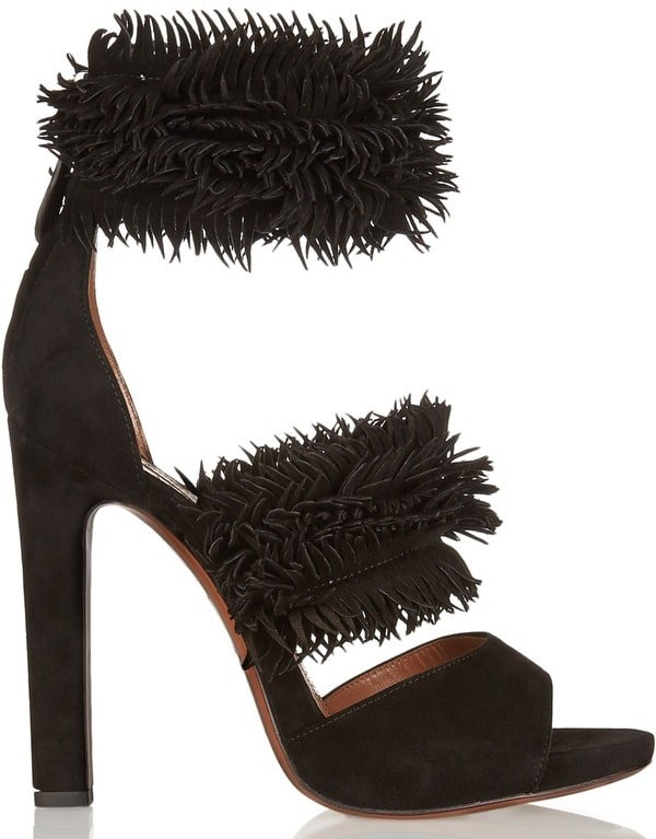 alaia fringed sandals