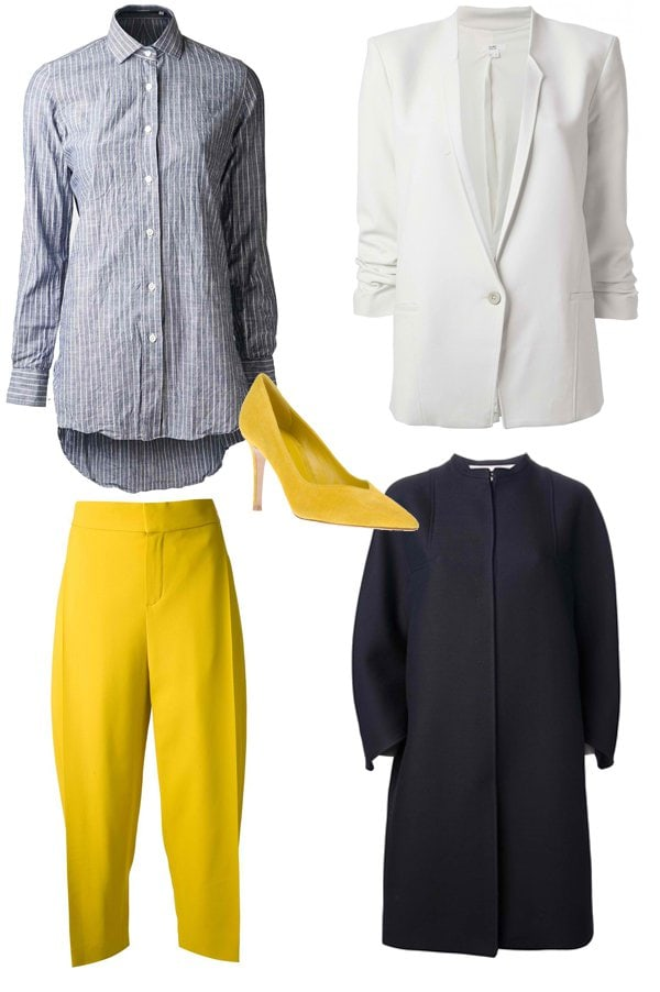 Ruched Sleeve Blazer Outfit Idea