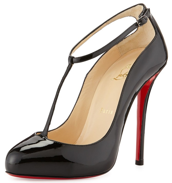 "Christian Louboutin ""Ditassima"" T-Strap Pumps"