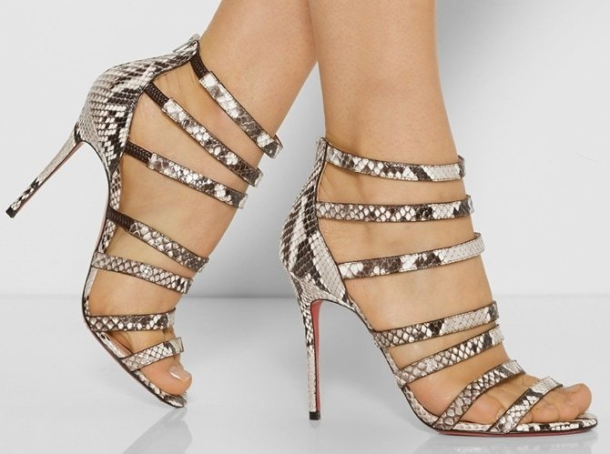 "Christian Louboutin ""Mariniere"" Sandals in Python"