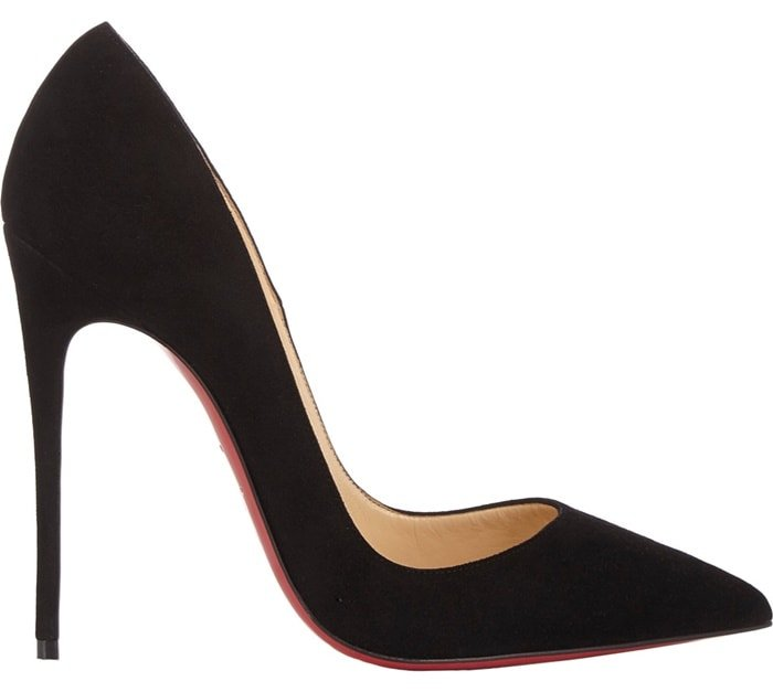 """Christian Louboutin """"So Kate"""" Pumps in Black Suede"""