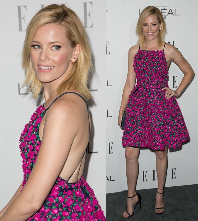 Elizabeth Banks surprised a lot of people when she arrived at the 2014 ELLE Women in Hollywood Celebration held at the Four Seasons Hotel