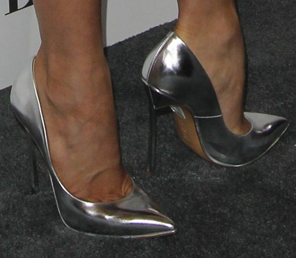 Julianne Hough's sexy feet in Casadei shoes