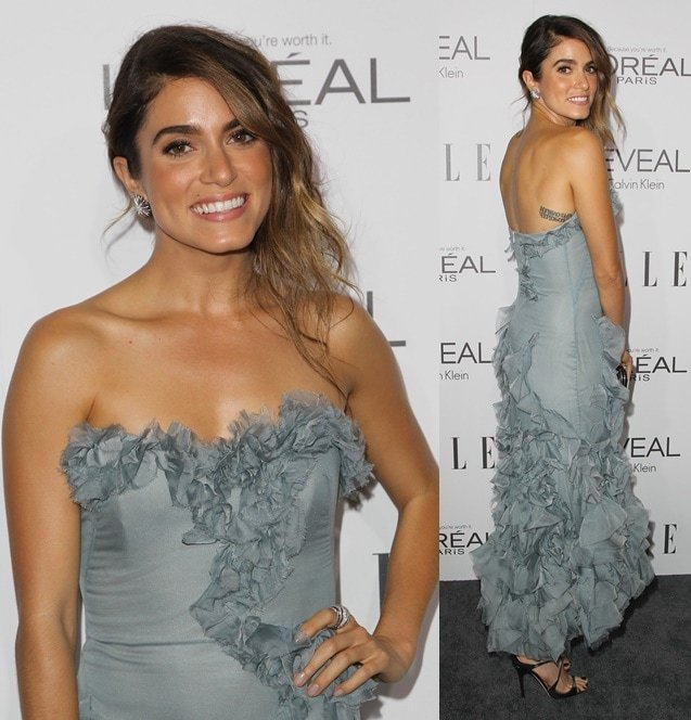 Nikki Reed wears a frilly frock to the ELLE Women in Hollywood Celebration held in Beverly Hills on October 21, 2014
