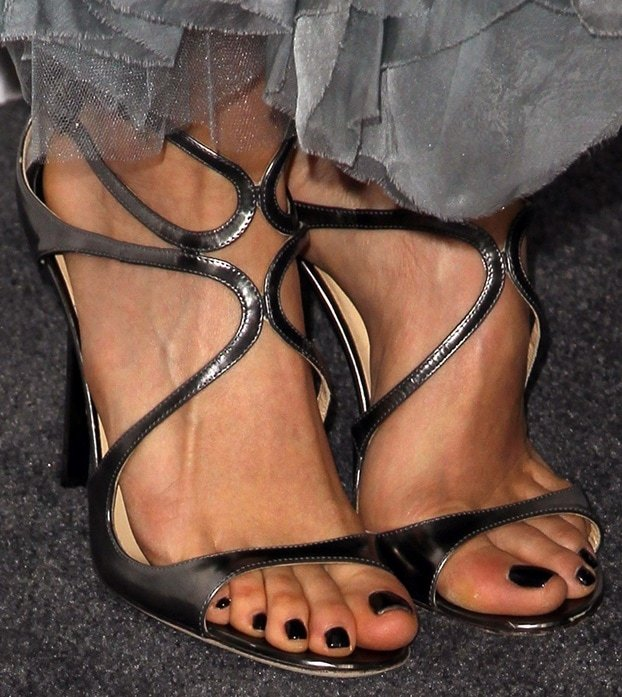 Nikki Reed's sexy feet in Jimmy Choo sandals