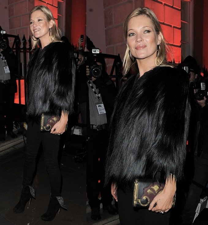 Kate Mosswas fierce and fabulous as she attended the launch party of the Melissa flagship store