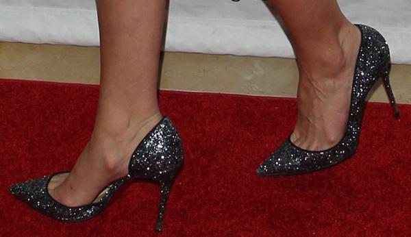 katherine heigl sequin dress shoe