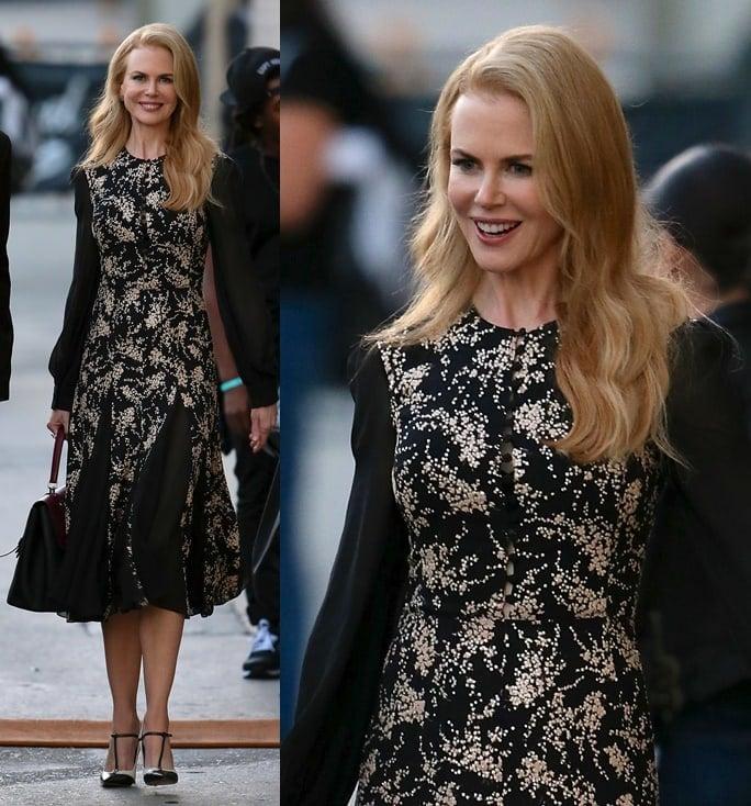 Nicole Kidman on for late-night talk show 'Jimmy Kimmel Live!'