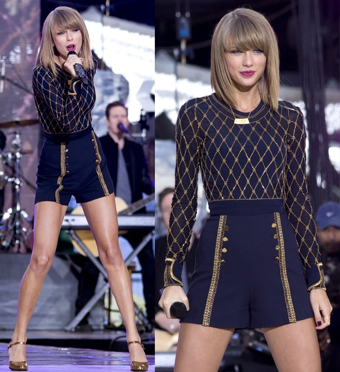 Taylor Swift wears Sass & Bide Fall 2014 for her performance on Good Morning America