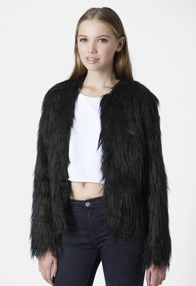 Topshop Gorilla Faux Fur Jacket