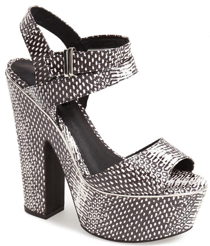 Topshop Lenni2 Ankle-Strap Platform Sandals