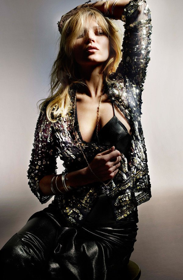 Topshop has teamed with iconic supermodel Kate Moss for a collection of music-festival ready clothing, with tons of fringe and embellishments