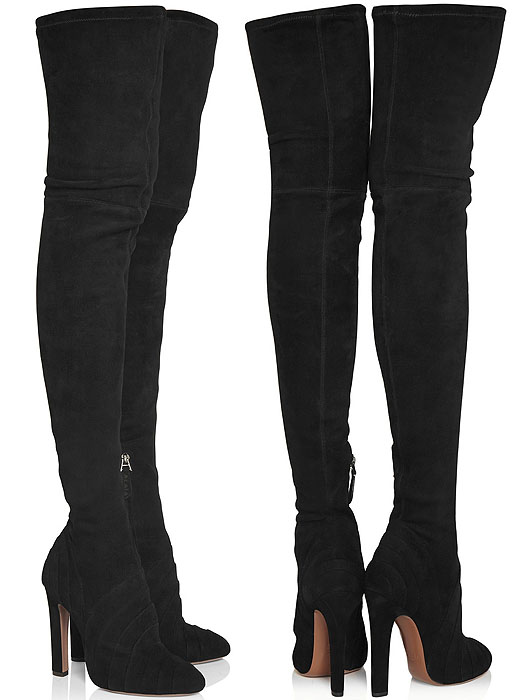 Alaia Stretch-Suede Over-the-Knee Boots