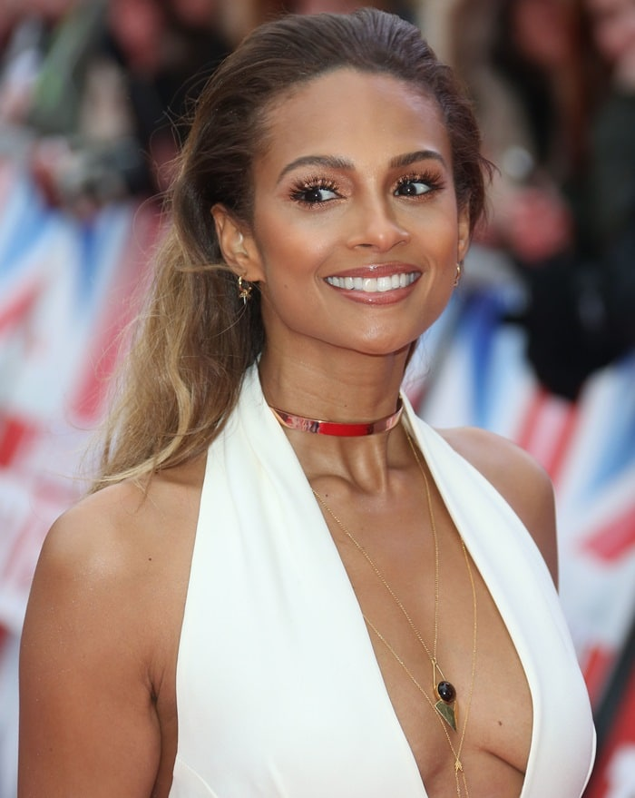 Alesha Dixon showed off her cleavage at the Britain's Got Talent auditions