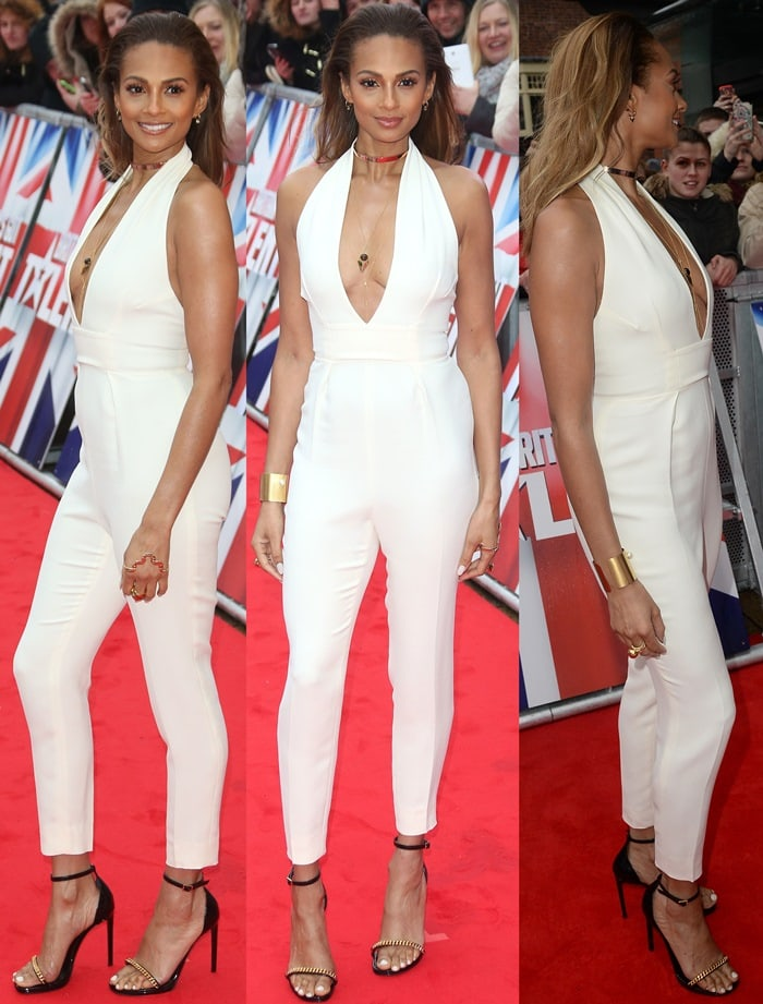 Alesha Dixon sported the same Gucci jumpsuit seen previously on Beyonce and Bella Thorne