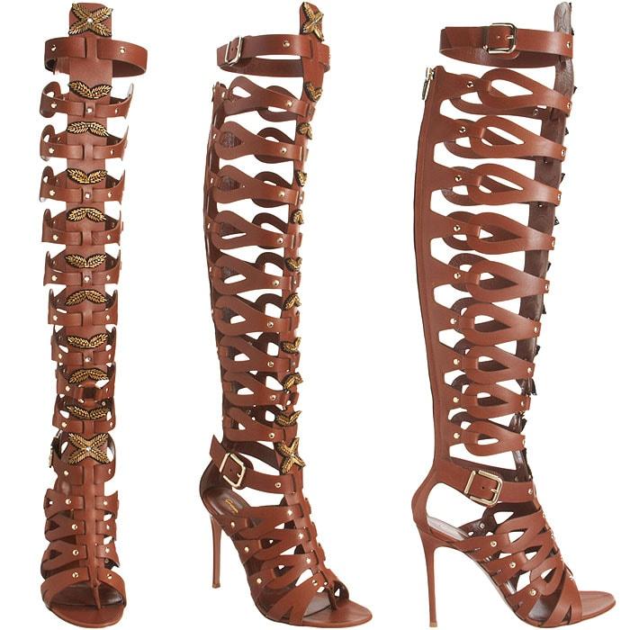 Altuzarra x Gianvito Rossi Knee-High Gladiator Sandals