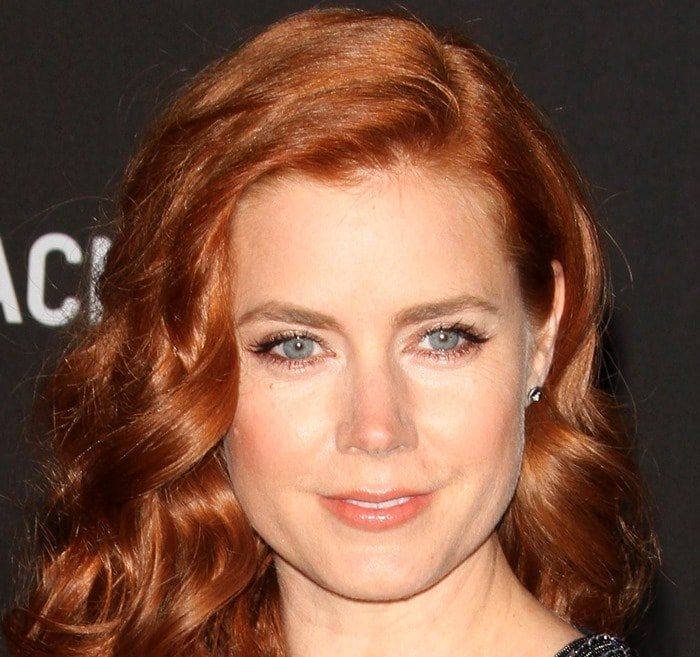 Amy Adams shows off her Melissa Kaye Jewelry earrings