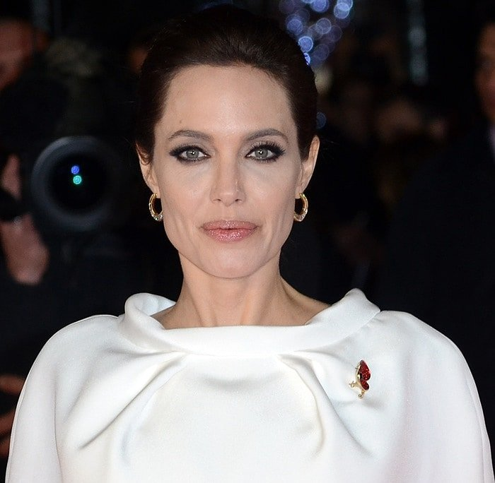 Angelina Jolie at the Unbroken premiere held at the Odeon Leicester Square in London, England, on November 25, 2014