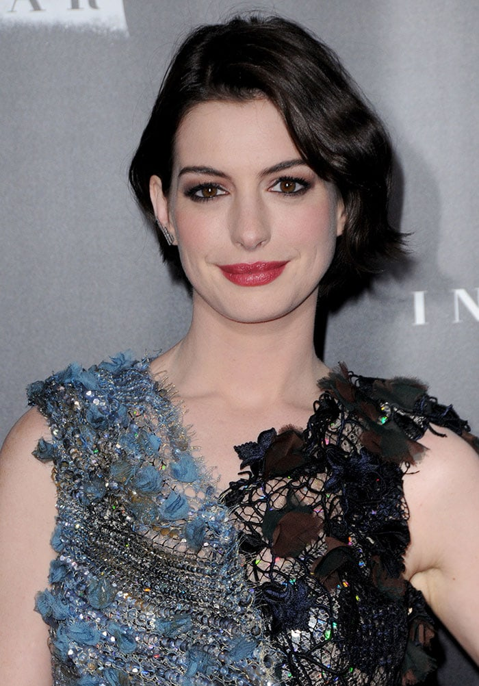 Anne Hathaway at the premiere of 'Interstellar' at AMC Lincoln Square Theater in New York City on November 3, 2014