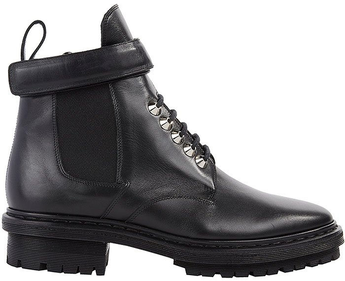 Balenciaga Velcro-Ankle-Strap Biker Boots
