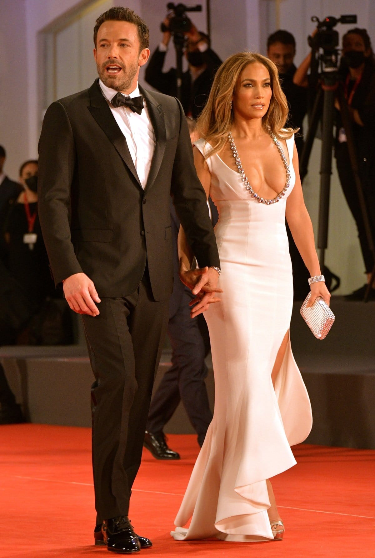 """Ben Affleck and Jennifer Lopez attend the red carpet of 20th Century Studios' movie """"The Last Duel"""""""