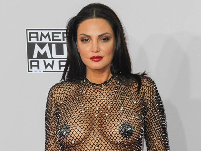 Bleona Qereti with nipple pasties at the 2014 American Music Awards