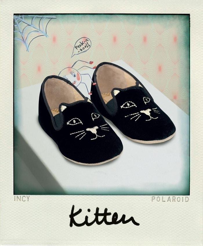 Charlotte Olympia Black Incy Kitten Slippers