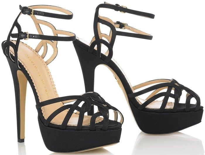 "Charlotte Olympia ""Ursula"" Platform Sandals in Black"