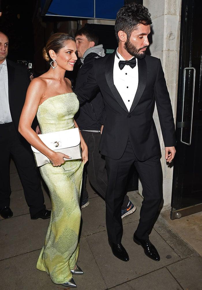 Cheryl and husbandJean-Bernard Fernandez-Versini at Katie Piper Charity Evening at Liberty Hall in London, England, on November 27, 2014
