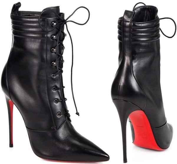 Christian-Louboutin-Black-Mado-Leather-Lace-up-Ankle-Boots