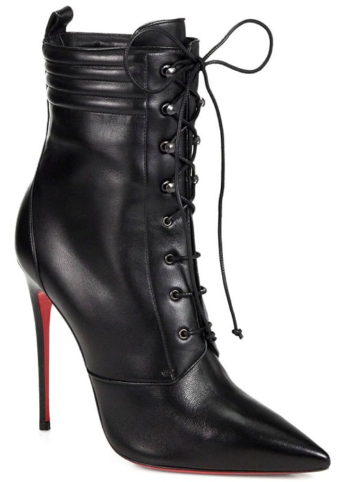"""Christian Louboutin """"Mado"""" Leather Lace-Up Ankle Boots"""