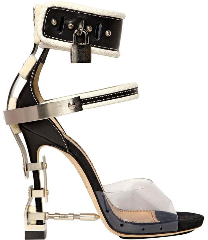 DSquared2-leather-elaphe-PVC-sandals