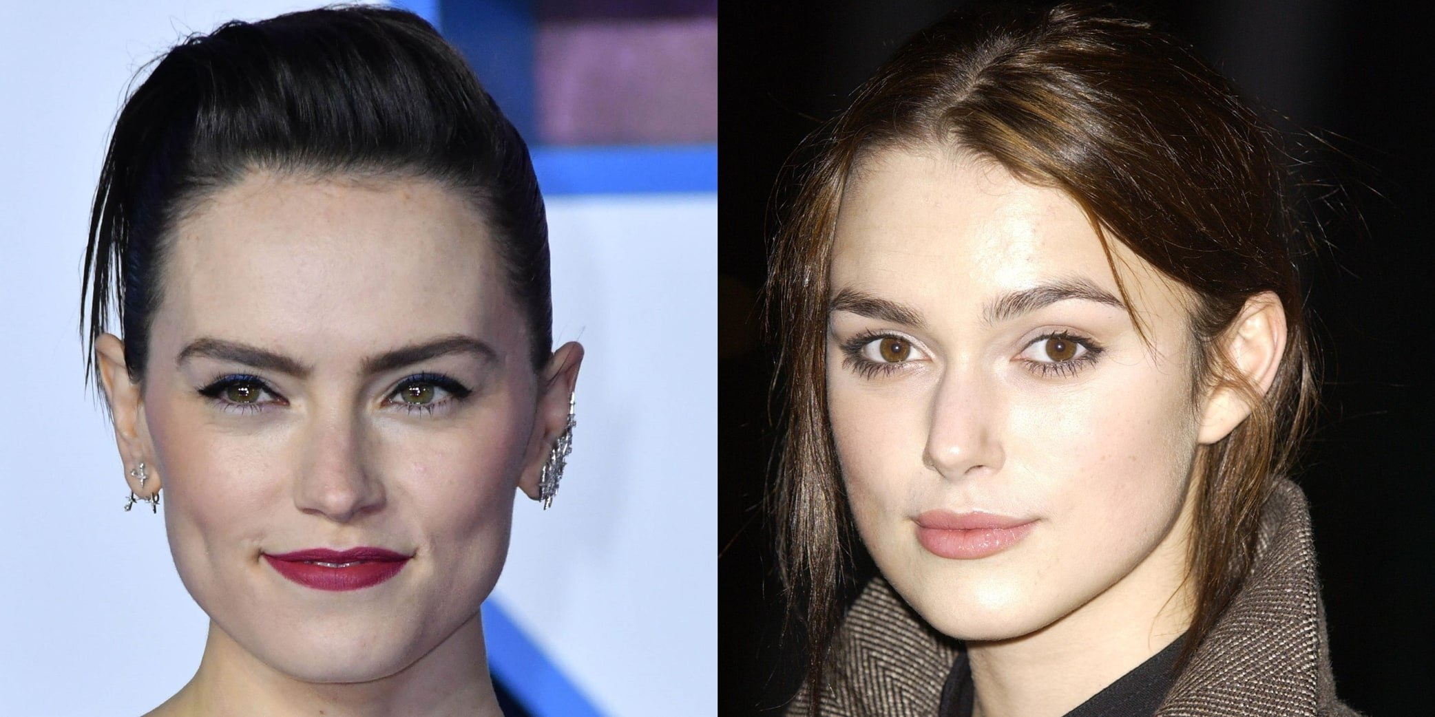 Daisy Ridley (L) and Keira Knightley (R) are not related