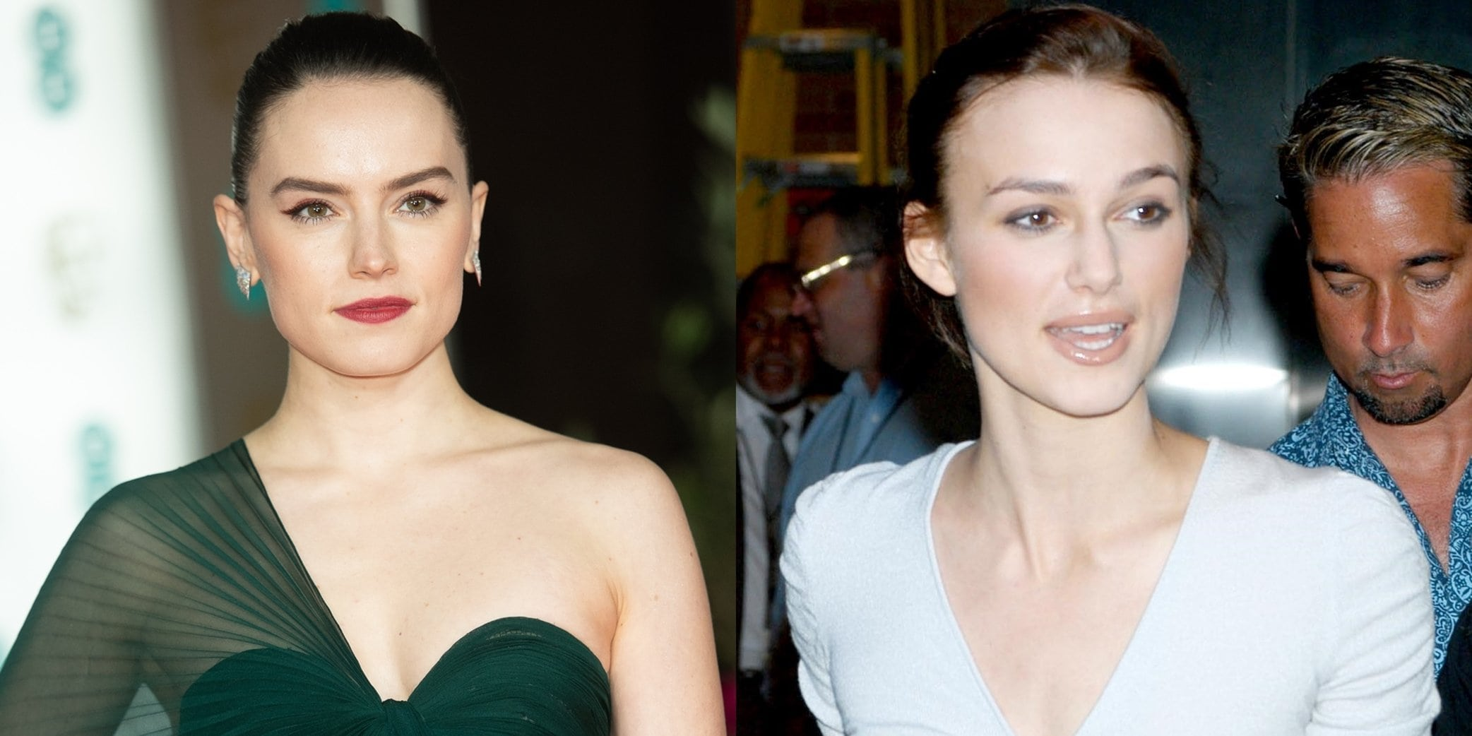 Daisy Ridley (L) does not want to be compared to lookalike actress Keira Knightley (R)