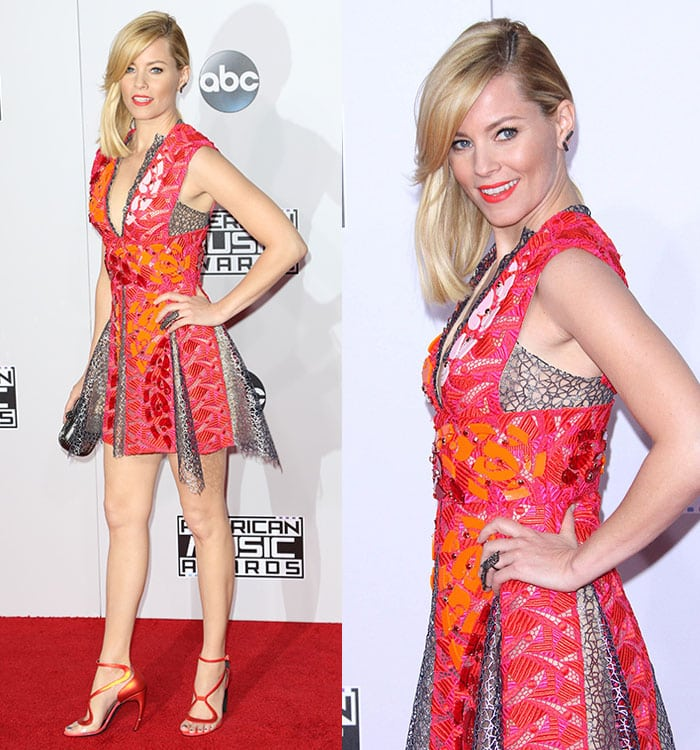 Elizabeth Banks at the 2014 American Music Awards at the Nokia Theatre L.A. Live in Los Angeles on November 23, 2014