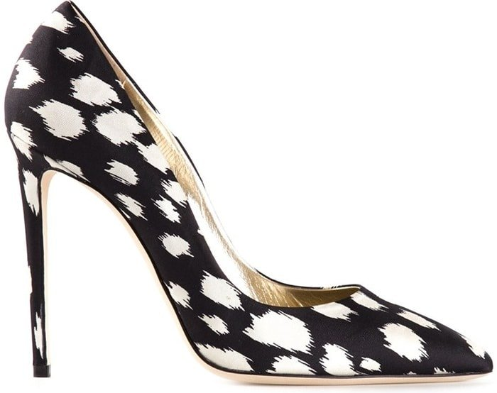Fausto Puglisi Black Printed Pumps