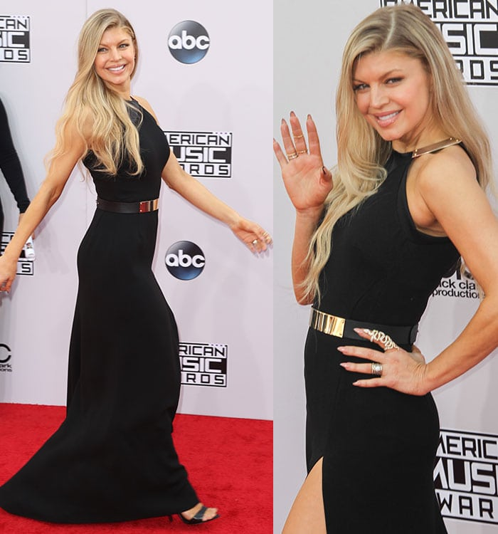 Fergie at the 2014 American Music Awards held at Nokia Theatre L.A. Live in Los Angeles on November 23, 2014