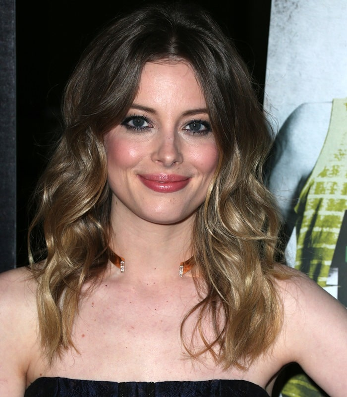 Gillian Jacobs donned an exquisite strapless J. Mendel sheath dress
