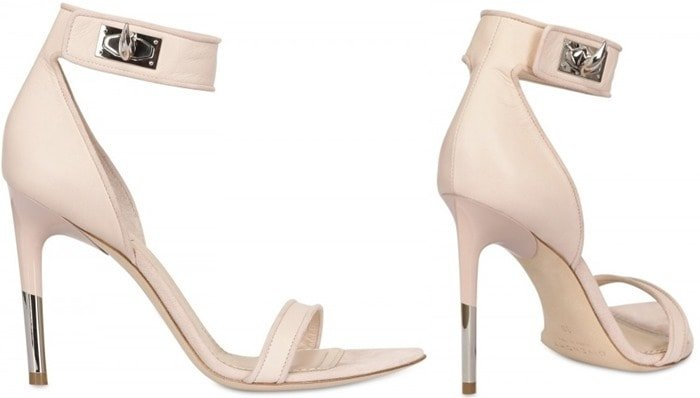 Givenchy Beige 100mm Nappa Suede Sandals